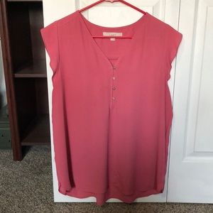 Loft Pink Button Shirt